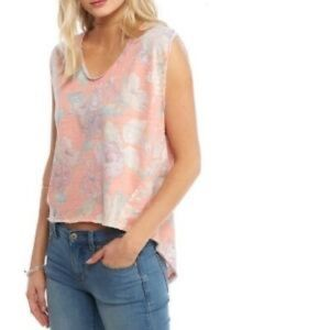 Free People Gardenia High Low Floral Tank NWT